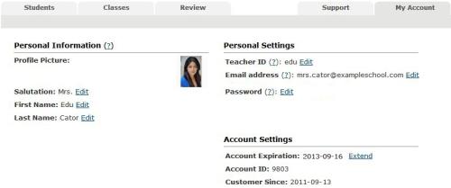 Voki Classroom - My Account
